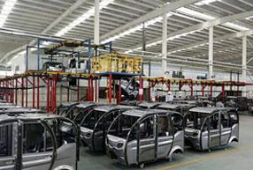 河南某客户设计开发的三轮全自动电泳生产线